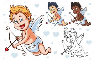 Cartoon Vector Cupid
