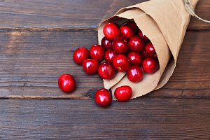 Red ripe cherry