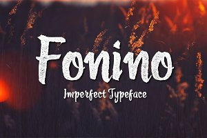 Fonino - Imperfect Typeface