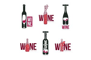 Wine logo templates