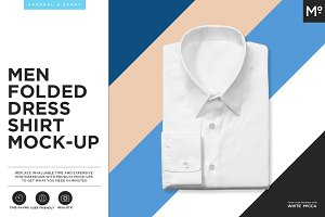 The Men Folded Dress Shirt Mock-up