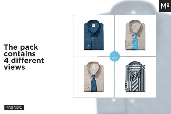 The Men Folded Dress Shirt Mock Up Creative Photoshop Templates Creative Market