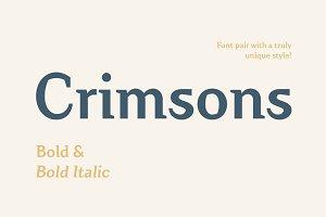 Crimsons—Bold & Bold Italic
