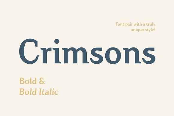 Crimsons Bold Bold Italic