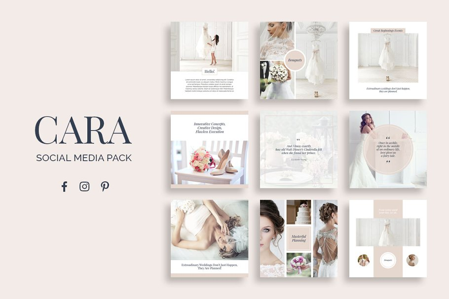 Cara Social Media Pack ~ Instagram Templates ~ Creative Market