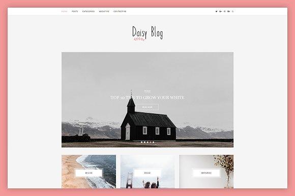 Daisy A WordPress Blog Theme