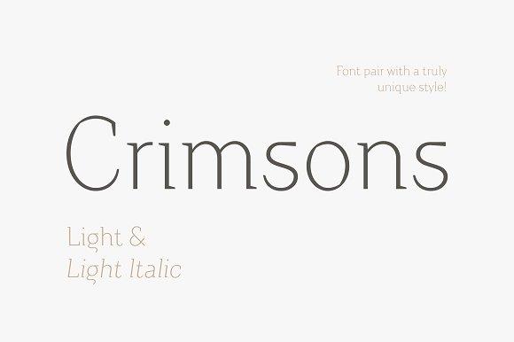 Crimsons Light Light Italic