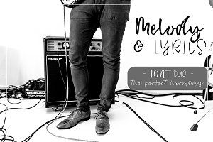 Melody & Lyrics - Font Duo