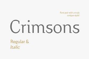 Crimsons—Regular & Italic