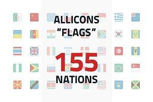 Allicons: Flags (155 icons)