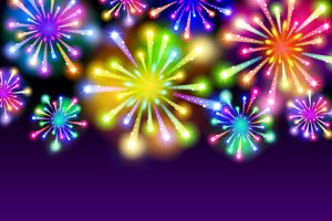 fireworks background place for text