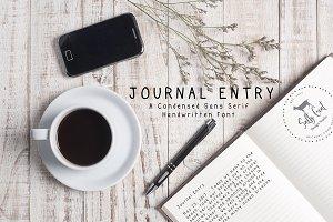 Journal Entry Handwritten Print Font
