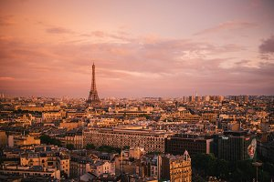 Sunset of Paris