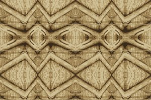 Wooden Carved Ornate Ethnic Seamless Pattern Design