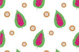 Graphic Floral Seamless Pattern Design