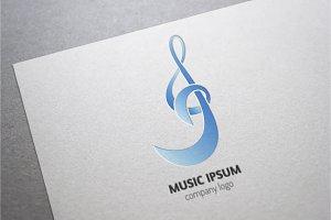 Treble Clef. Music Logo