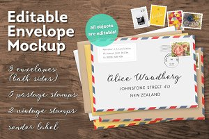 Editable Envelope Mockup