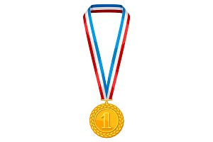 Realistic gold medal.