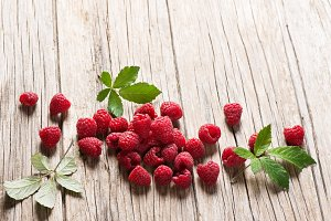 Seasonal fresh raspberry