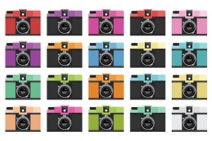 Film Camera Clip Art Set