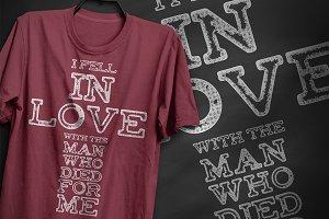 I fell in love - T-Shirt Design