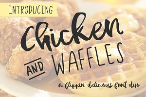 Chicken and Waffles Brush Script