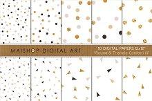 Digital Paper-Round & Triangle...