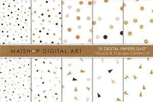 Digital Paper-Round & Triangle...