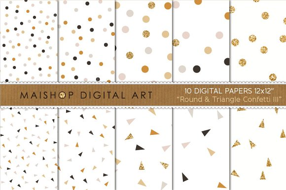Digital Paper-Round & Triangle... - Patterns