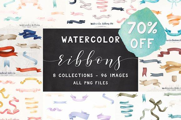 70% OFF Watercolor Ribbons Bundle