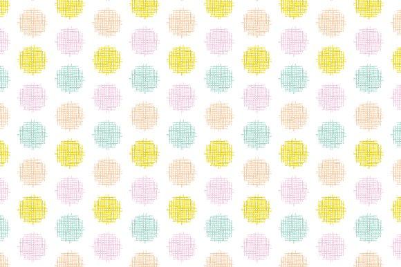 Crosshatch Dots Vector Pattern