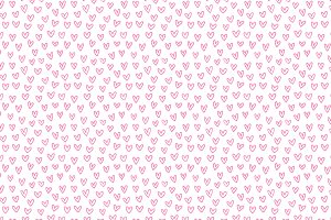 Hand Drawn Hearts Vector Pattern