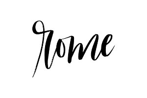 Rome Brush Hand Lettering Vector
