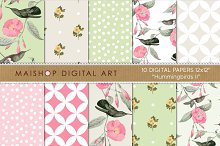 Digital Paper - Hummingbirds II