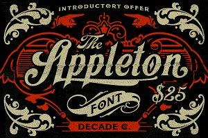 Appleton Font + Poster