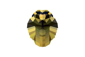 Snake head illustration low poly style for design modern quality logos vector