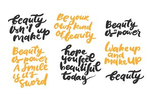Beauty quotes set