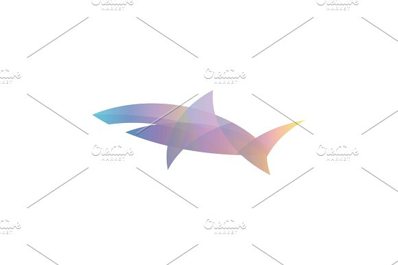 Color Shark Gradient Overlay Vector Illustration Logo Modern Trends