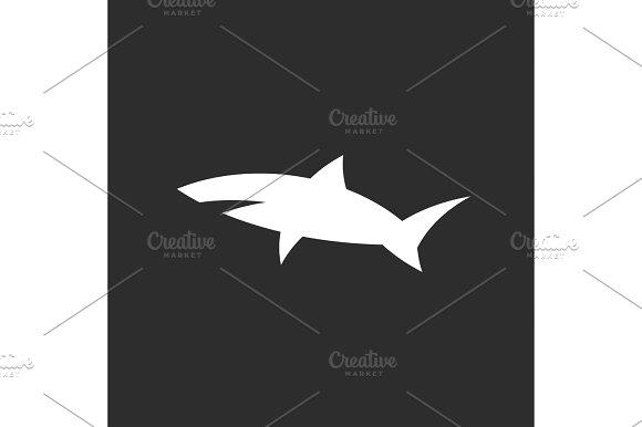 Shark Icon Sign In Monochrome Modern Logo Design Style Minimum Quality Flat Drawn Cross Section