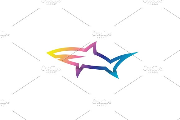 Shark Linear Logo Modern Style Of Latest Trends Gradient Logos And Vector Illustrations Animal Fish
