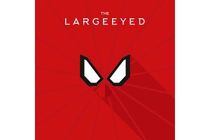 Mask Largeeyed Hero superhero flat style icon vector logo, illustration, villain