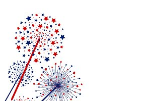 Vector firework on white background