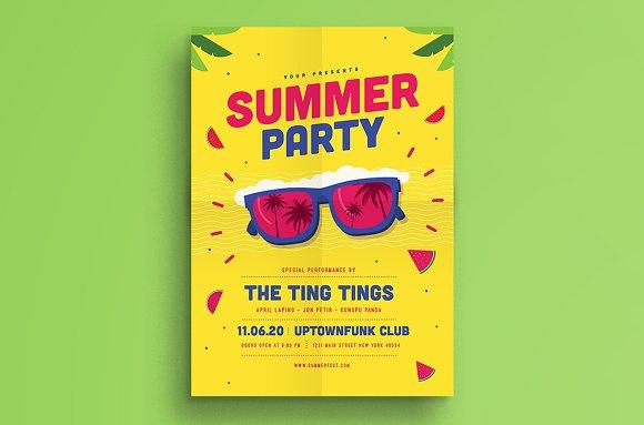 summer event flyer flyer templates creative market