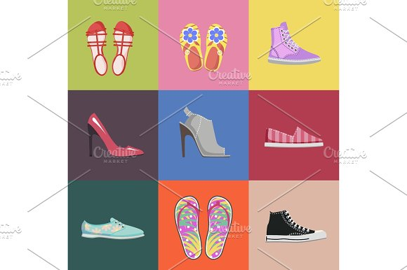 Fashionable Shoes Collection Advertising Poster