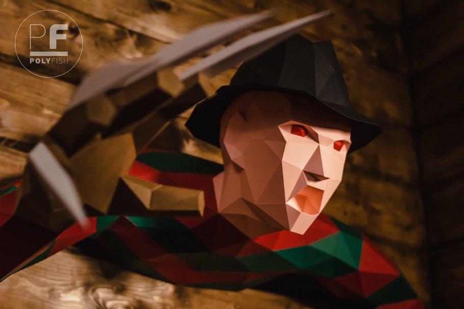 DIY Freddy Krueger 3D model template ~ Templates ~ Creative