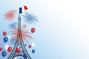 Vector 14 july bastille day design
