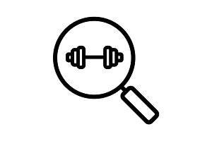 Gym search linear icon