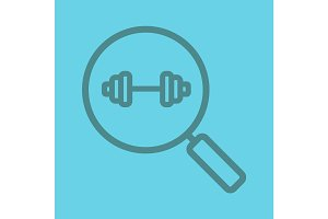 Gym search color linear icon
