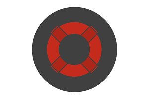 Life ring glyph color icon