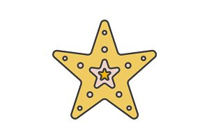 Sea star color icon